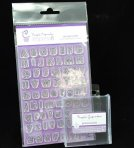 Purple Cupcakes Impressit - Outline, Alphabet & Numbers set *With Acrylic Block*