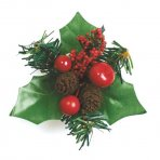 Berry and Fircone Holly - 70mm