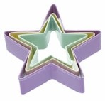 3 Piece Star Cookie Cutter Set By Sweetly Does It