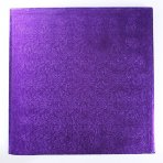 "Pack of 5 12"" Square Purple Cake Drums"
