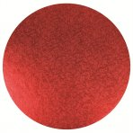 "Double Thick 10"" Round Red Cake Board"