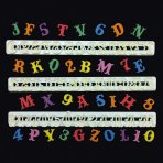FMM Carnival Font Tappit Letter Cutters