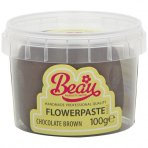 Chocolate Brown Flower Paste by Beau Products - 100g