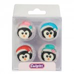 Christmas Penguin Sugar Pipings Pack of 12