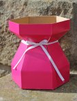 Purple Cupcakes Bouquet Box & Tray - Cerise