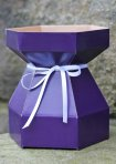 Purple Cupcakes Bouquet Box & Tray - Purple