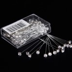 Quality Diamante Pins Pack of 72