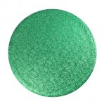 "Pack of 5 12"" Round Green Cake Drums"