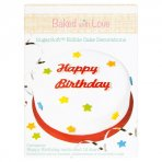 Baked with Love Edible Happy Birthday Plaque