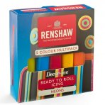 Renshaw Multipack Ready to Roll Icing - Neon Colours