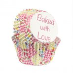 Baked with Love Foil Lined Baking Case Patchwork Multi 25 pack