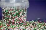 Purple Cupcakes Christmas Mix Non Pareils: White, Red and Green 100g