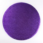 "Pack of 5 8"" Round Purple Cake Drums"