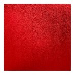 "Pack of 5 10"" Square Red Cake Drums"