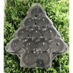 Christmas Cupcake Platter with Clear Lid Holds 12