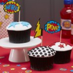 Ginger Ray Cupcake Picks - Comic Superhero