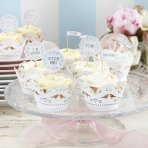 Ginger Ray Cupcake Picks - Vintage Lace