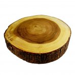 14 Inch Wide Acacia Wood Slice Cake Stand