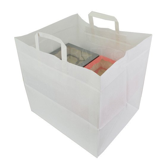 Extra Large Paper Carrier Bag - For 12 Hole Boxes