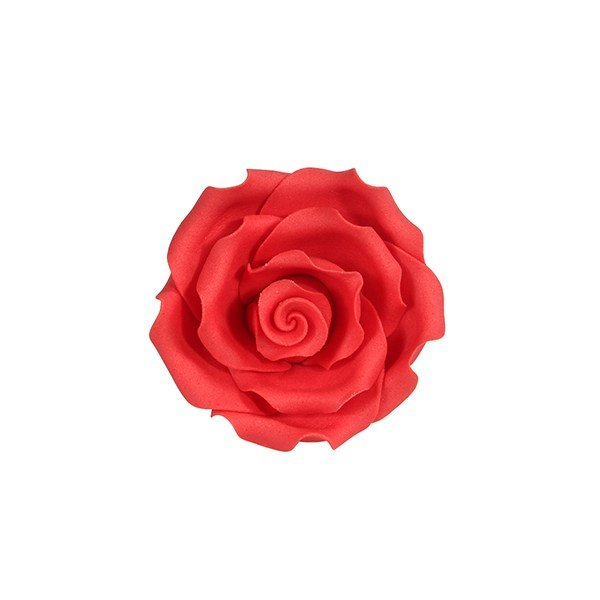 Soft Sugar Roses - Strawberry - 50mm (Pack of 10)