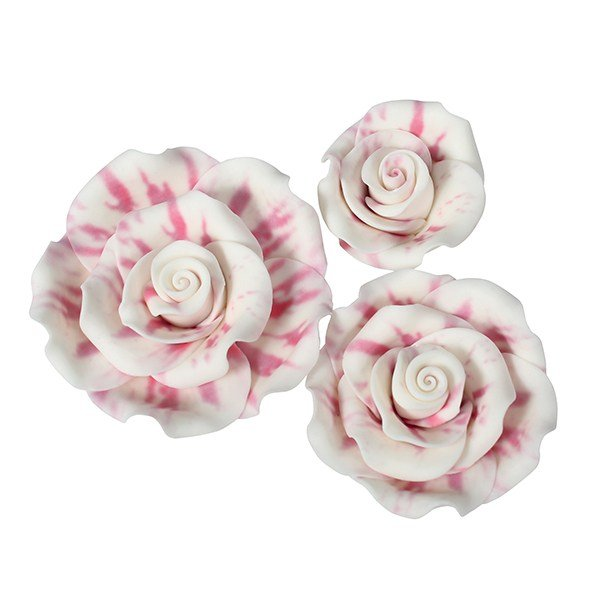Marbled edible roses