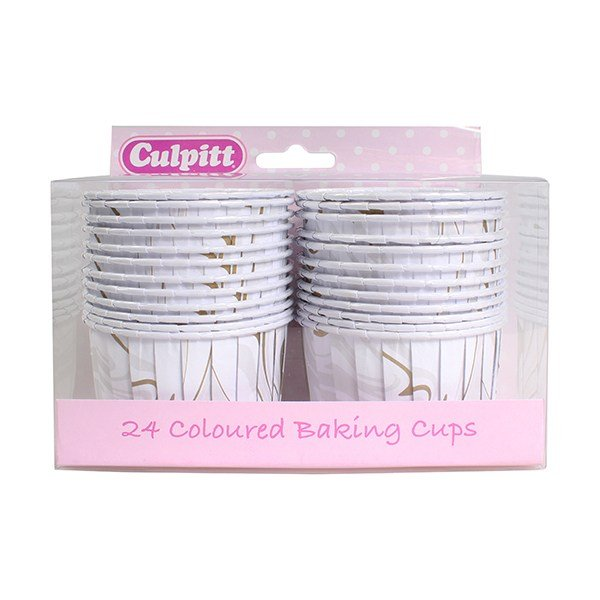 Marble Silver and Gold Baking Cups Pack of 24