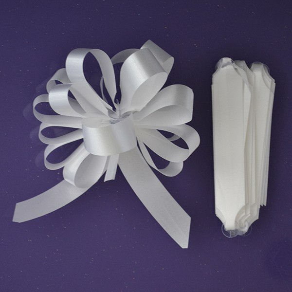 Purple Cupcakes Quick Pull Bow - White