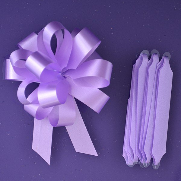Purple Cupcakes Quick Pull Bow - Lilac