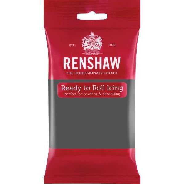 Renshaw 250g Grey Ready to Roll Fondant Icing