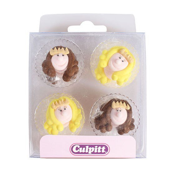 Princess Sugar Pipings Pack of 12