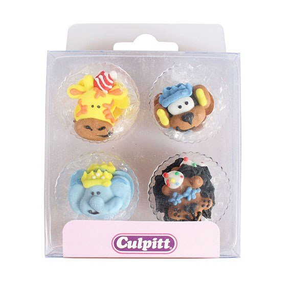 Party Animal Sugar Pipings Pack of 12