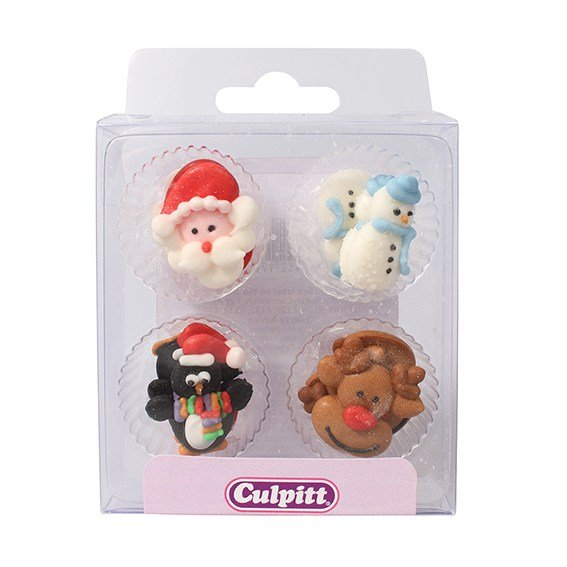 Christmas Friends Sugar Pipings Pack of 12