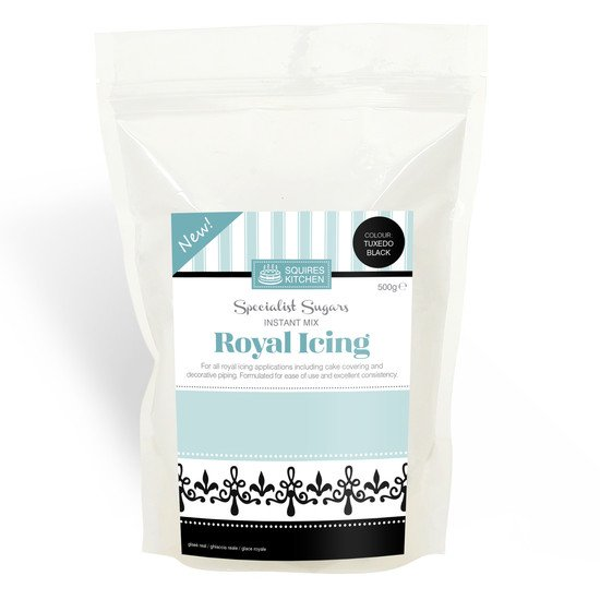 Squires Kitchen Instant Mix Royal Icing Mix - Tuxedo Black 500g