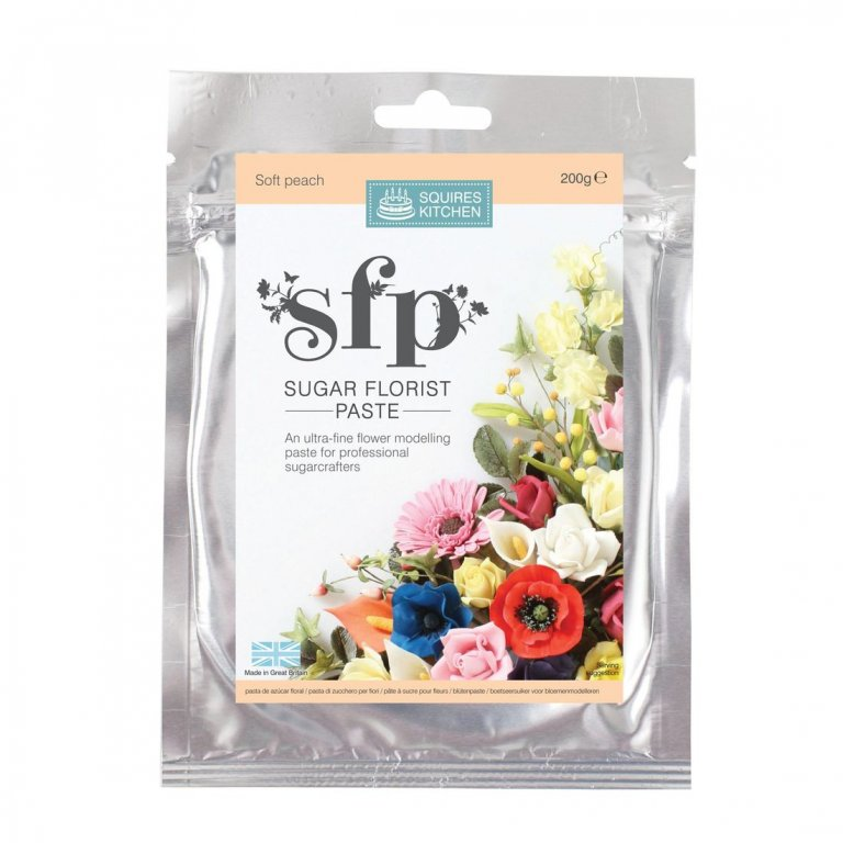 200G Soft Peach Squires Kitchen Florist Paste