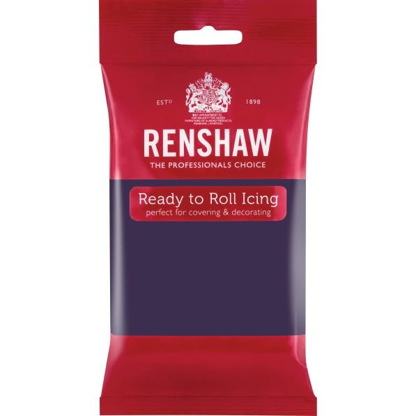 Renshaw 250g Deep Purple Ready to Roll Fondant Icing