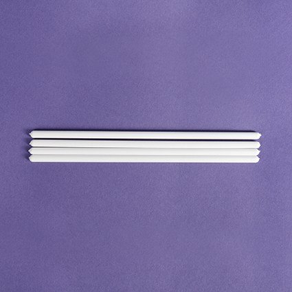 "8"" White Dowels 4 Pack"