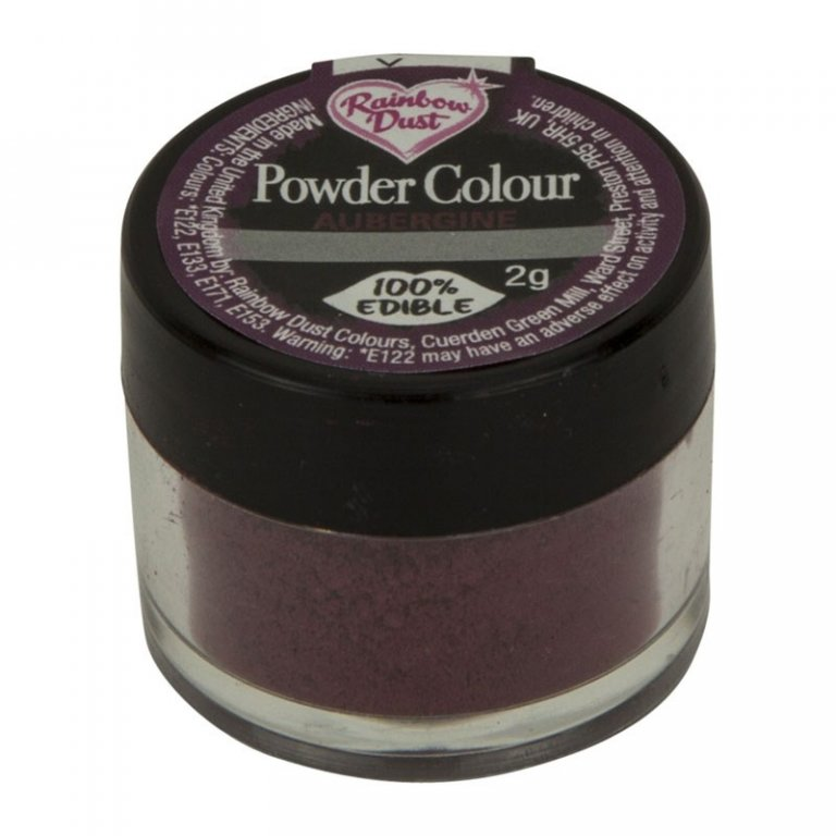 Rainbow Dust Powder Colour - Aubergine