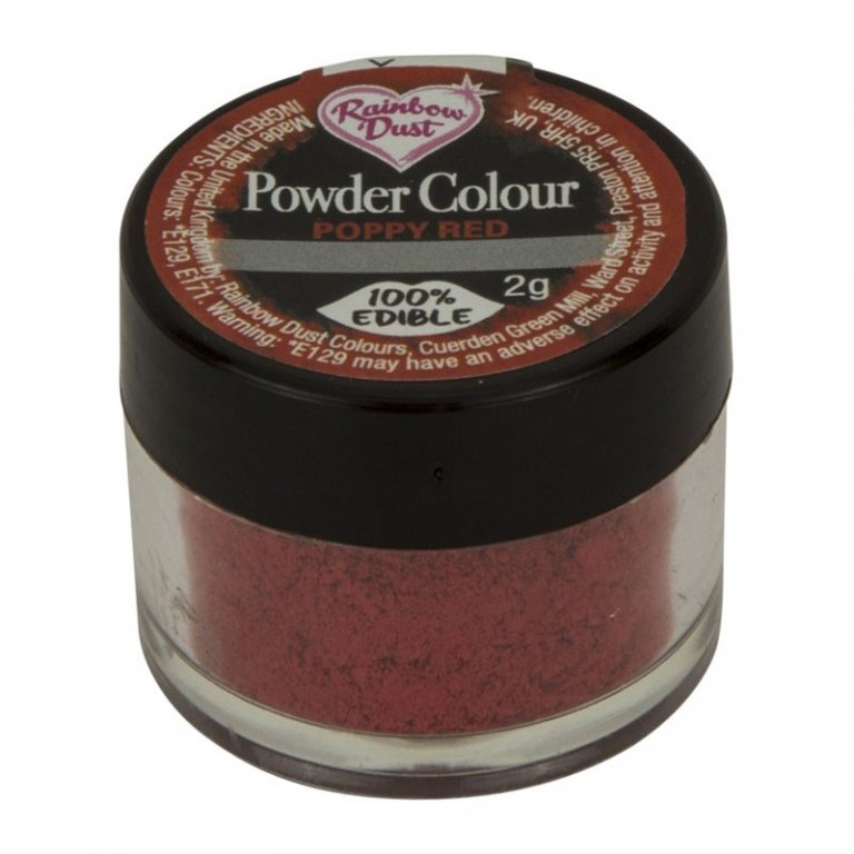 Rainbow Dust Powder Colour - Poppy Red