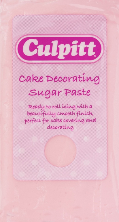 Culpitt Cake Decorating Sugar Paste Icing Light Pink 250g