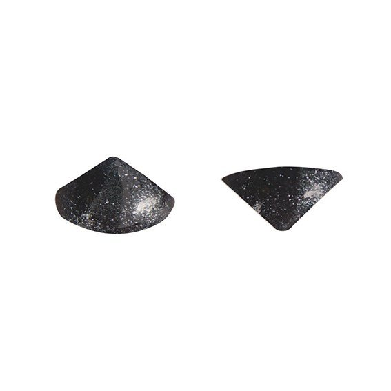 Edible Black Metallic Diamond Jelly Studs - Faceted Studs