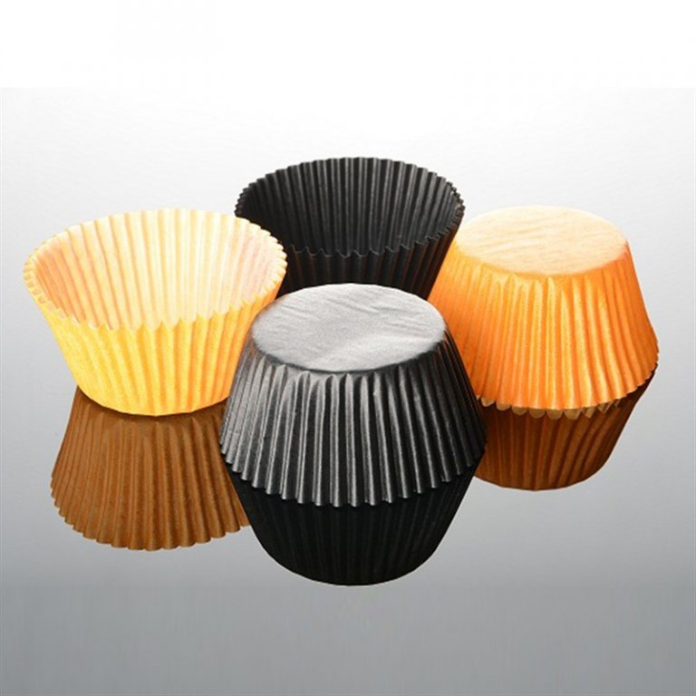 EasyBake Black and Orange Cupcake Cases Pack of 100