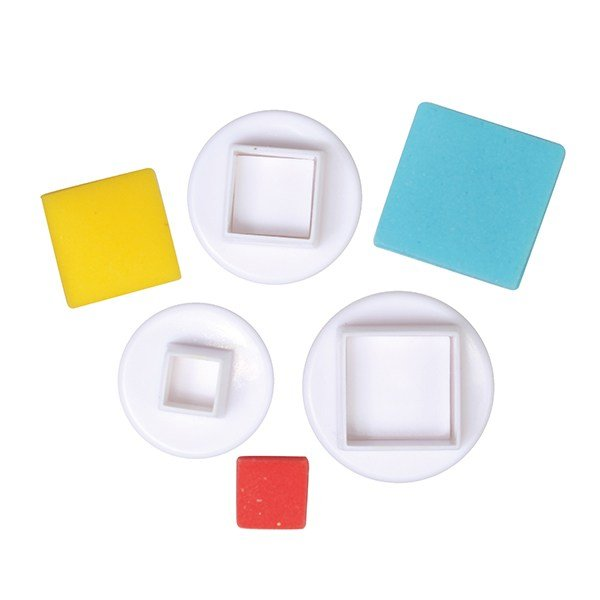 Cake Star Square Plunger Cutters  3 Set