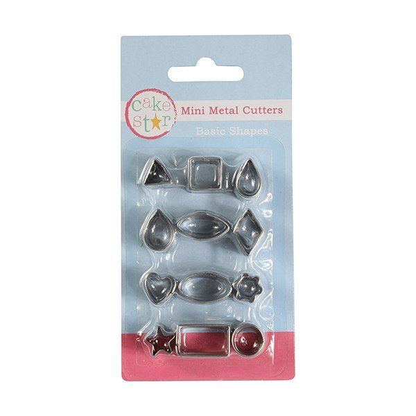 Cake Star Mini Metal Cutters - Basic Shapes - 12 piece