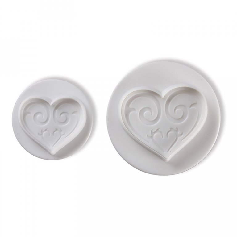 Pavoni Plunger Cutters Heart 2 piece