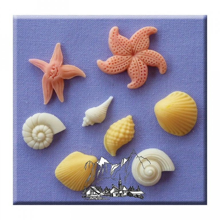 Alphabet Moulds - Shells & Starfish