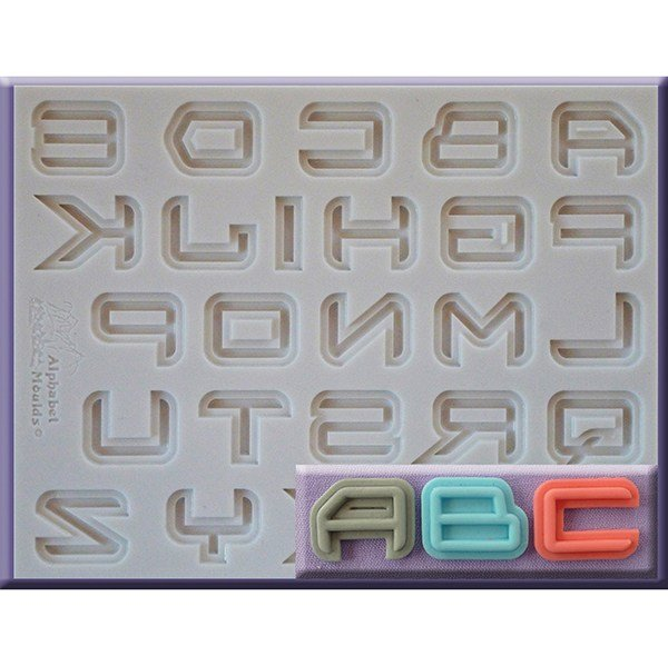 Alphabet Moulds - Science Fiction Font