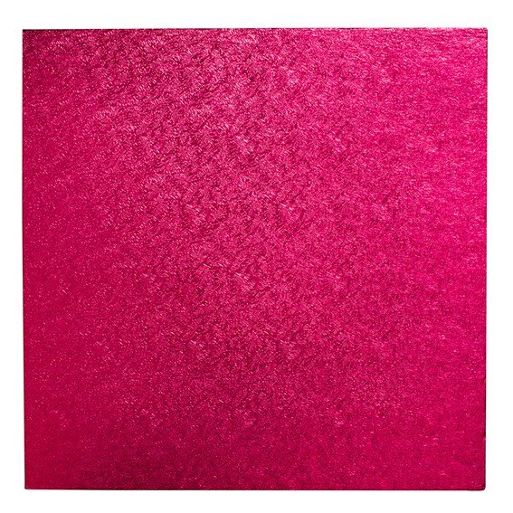 "Pack of 5 10"" Square Cerise Cake Drums"