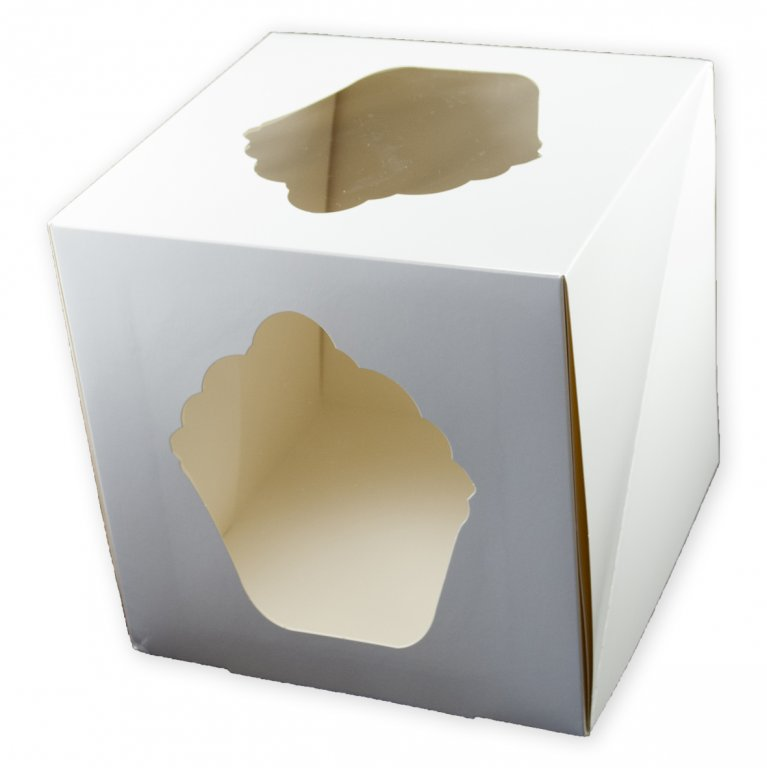 Giant Cupcake Box - White - 10""