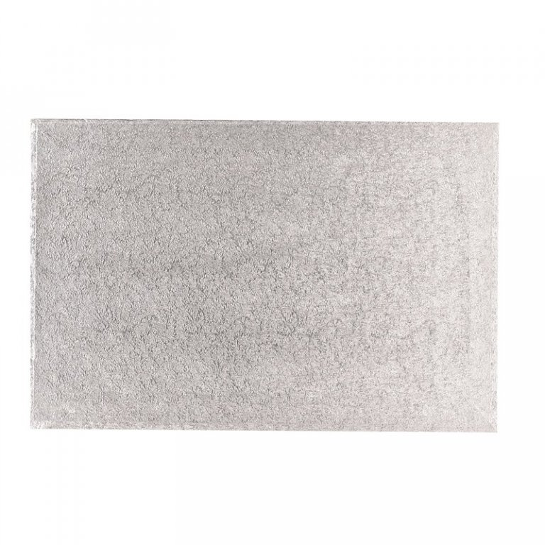 18'' x 12'' Hardboard Rectangle Turn Edge Cards Silver Fern (3mm thick)