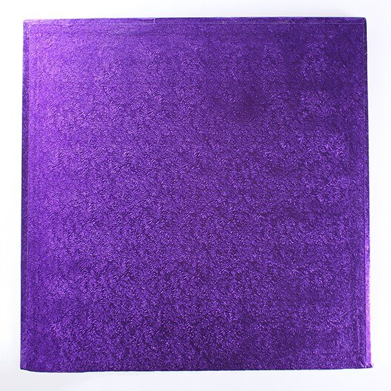 "Pack of 5 10"" Square Purple Cake Drums"